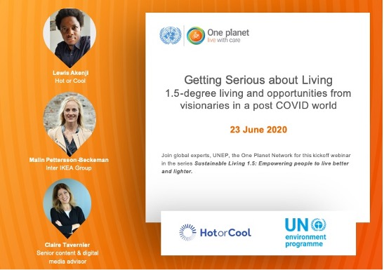 Webinar image: Getting serious about living