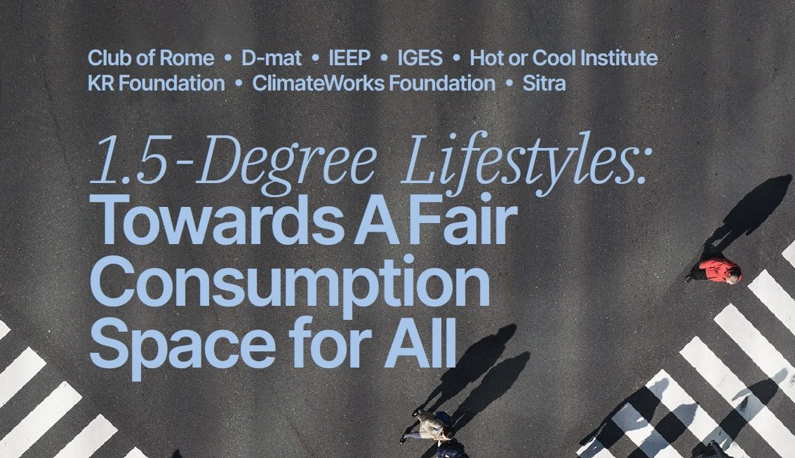 1.5-degree lifestyles: a fair consumption space for all